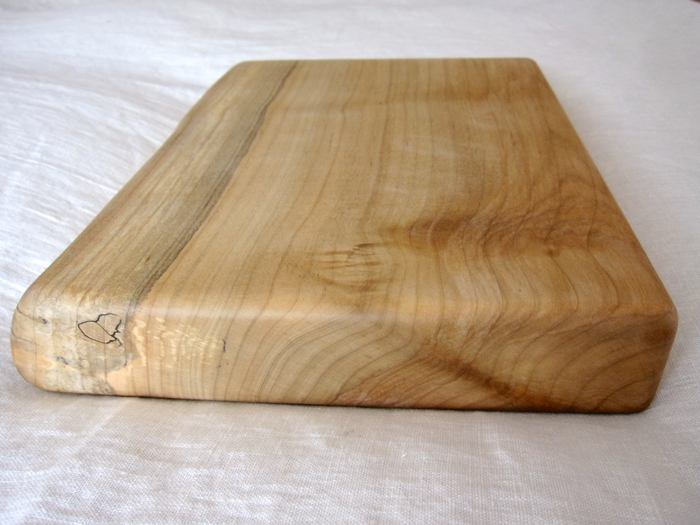 Live edge maple cutting board vermont tree goods