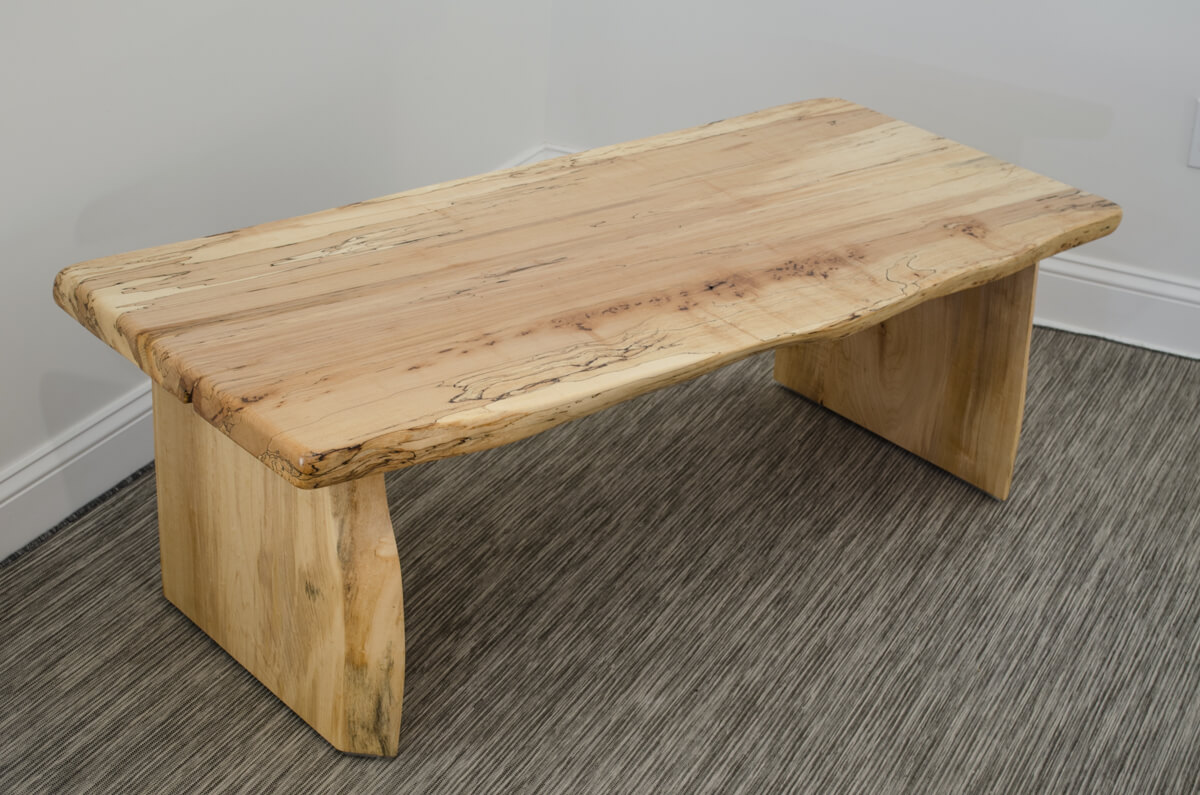 Maple Wood Coffee Table.Coffee Table Of Spalted Maple