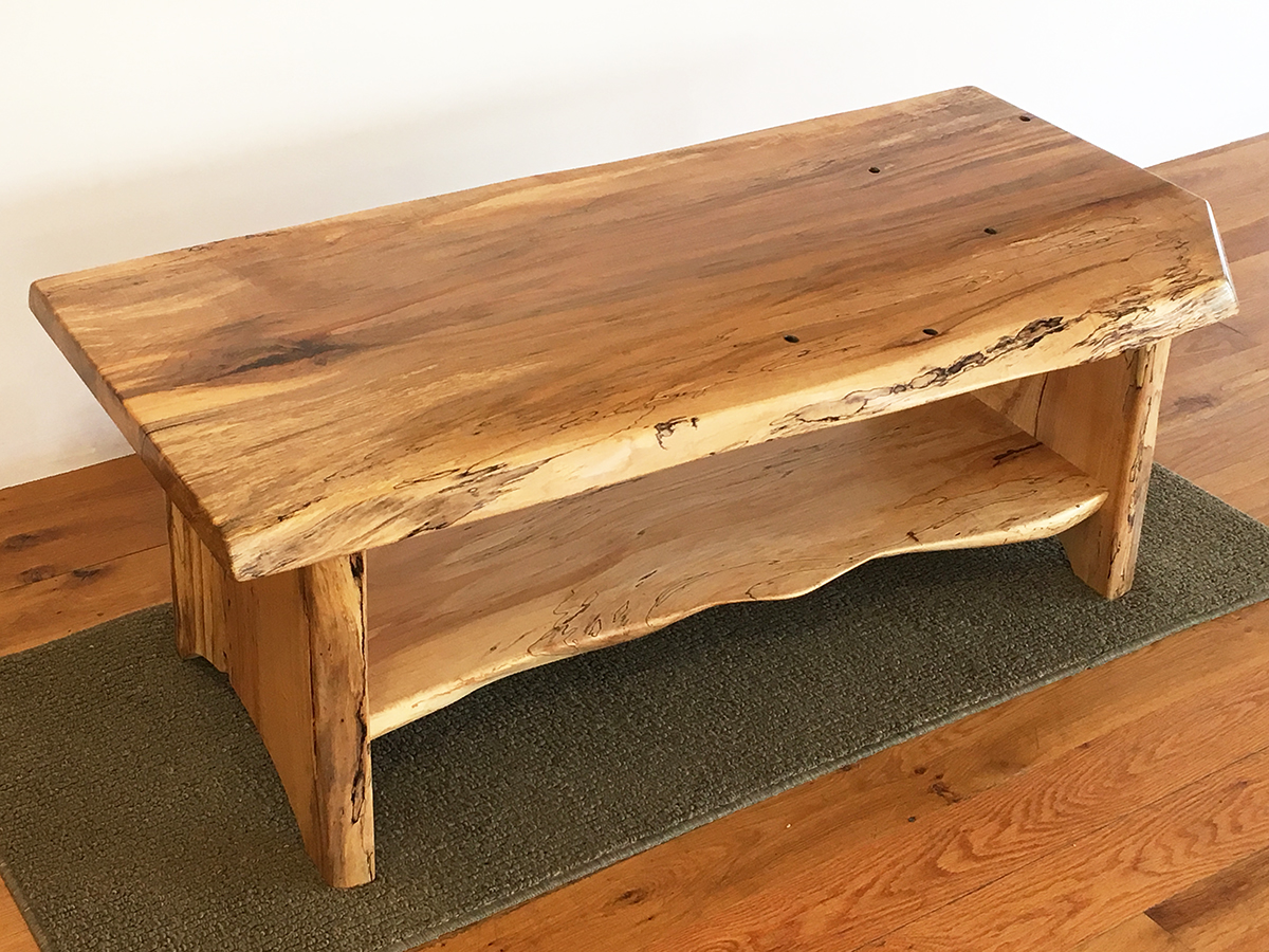 Taphole Maple Coffee Table With Shelf Vermont Tree Goods