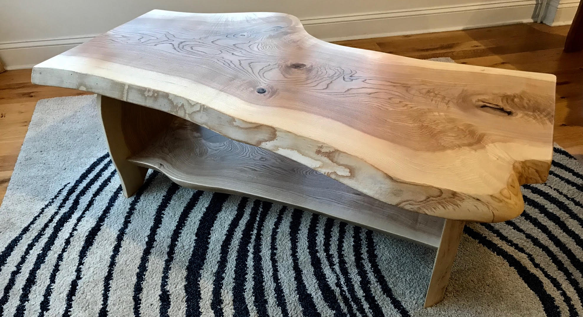 Coffee Table With Shelf Ash Vermont